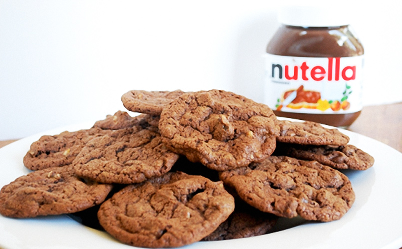 Receta de cookies de nutella