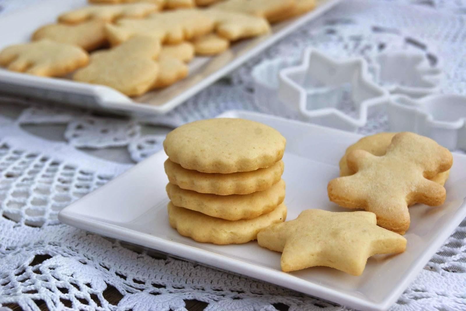 Recetas de galletas de mantequilla.